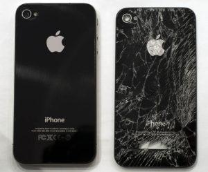 Повреждена задняя крышка iPhone