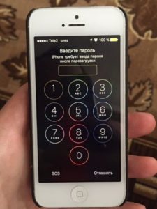 Забыт пароль входа iPhone 7