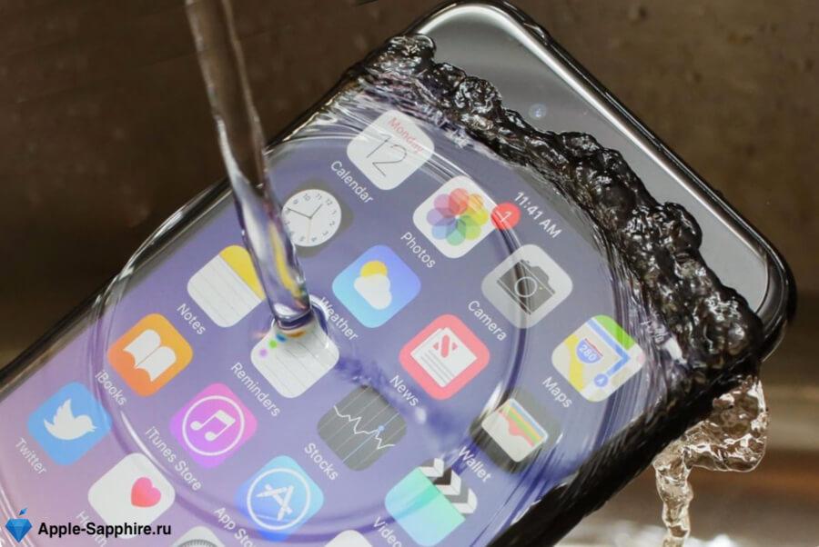 Попала вода iPhone X