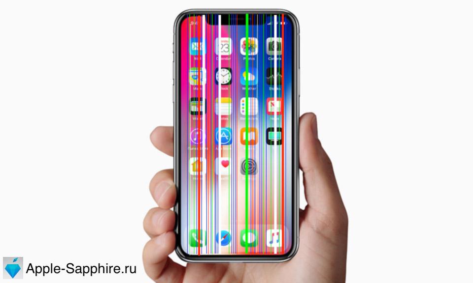 Полосы на дисплее iPhone X