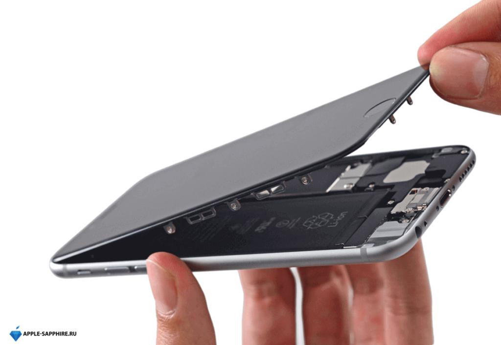 На экране iPhone появились пятна