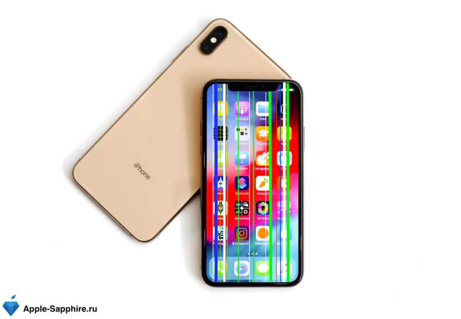 Полосы на дисплее iPhone XS