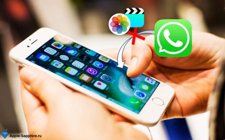 Фото и видео в WhatsApp iPhone