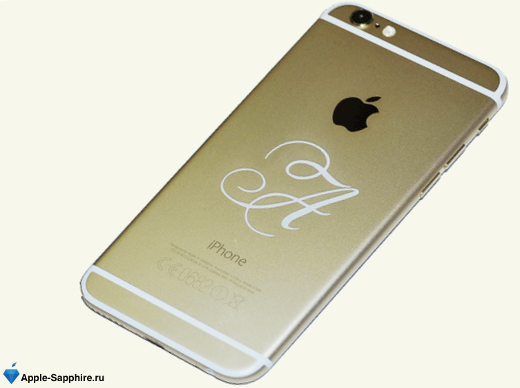 iPhone с гравировкой
