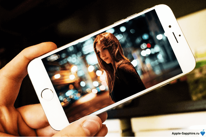 Phone эффект размытого фона